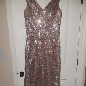 Dresses & Skirts - Rose gold formal gown